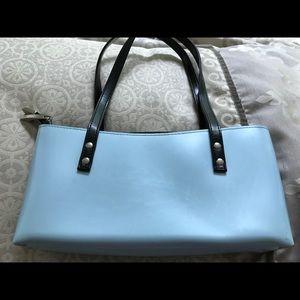 Beijo classic baby blue w/  silver hardware purse